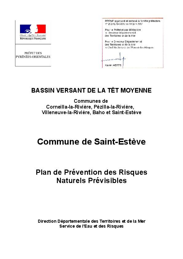 Saint esteve cadre de vie urbanisme le plan de for Plan de prevention des risques entreprises exterieures